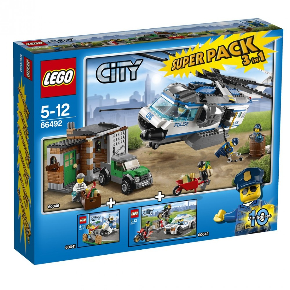 66492 lego city city police super pack 3 az 1 ben kockabolyg. Black Bedroom Furniture Sets. Home Design Ideas