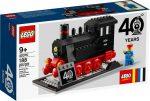 40370 LEGO® Szezonális készletek Gőzmozdony - 40 éves jubileumi vonatkészlet