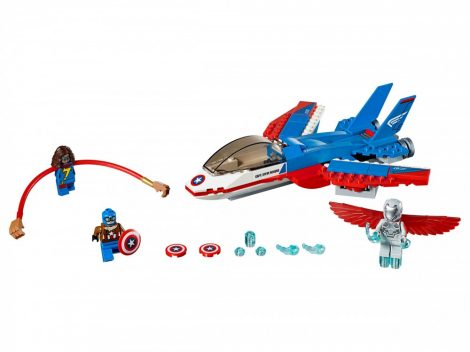 76076 LEGO® Marvel Super Heroes Amerika kapitány - Küldetés a sugárhajtású repülővel