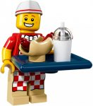 COL17-6 LEGO® Minifigurák 17. sorozat Hot dog árusító