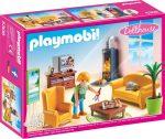 Playmobil Dollhouse 5308 Babaház - Nappali kandallóval