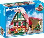 Playmobil Christmas 5976 Télapó a hófödte házikónál