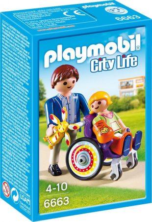 Playmobil City Life 6663 Gyermek tolószékben