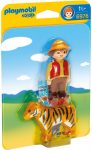 Playmobil 1.2.3 6976 Gondozó tigrissel