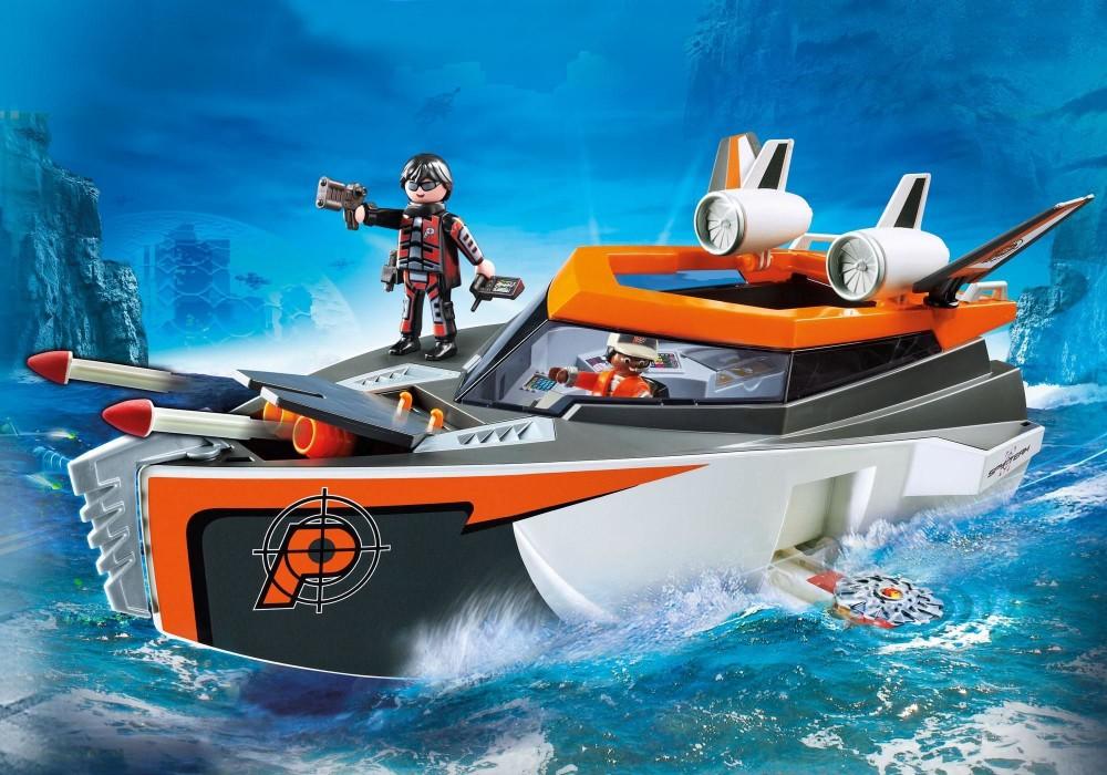 playmobil top agents 70002 titkos ügynökök hadihajója  kock