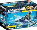 Playmobil 70007 S.H.A.R.K. csapat rakéta vetős jetskije