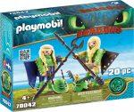 Playmobil Dragons 70042 Kőfej és Fafej repülő ruhában