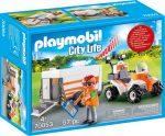Playmobil City Life 70053 Mentő quad utánfutóval