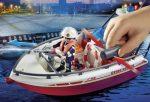 Playmobil City Action 70054 Tűzoltóautó hajóval