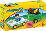 Playmobil 1.2.3 70181 Autó lószállítóval