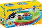 Playmobil 1.2.3 70183 Tengerész hajóval