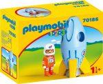 Playmobil 1.2.3 70186 Űrhajós rakétával