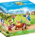 Playmobil City Life 70194 Nagymama bevásárló kocsival