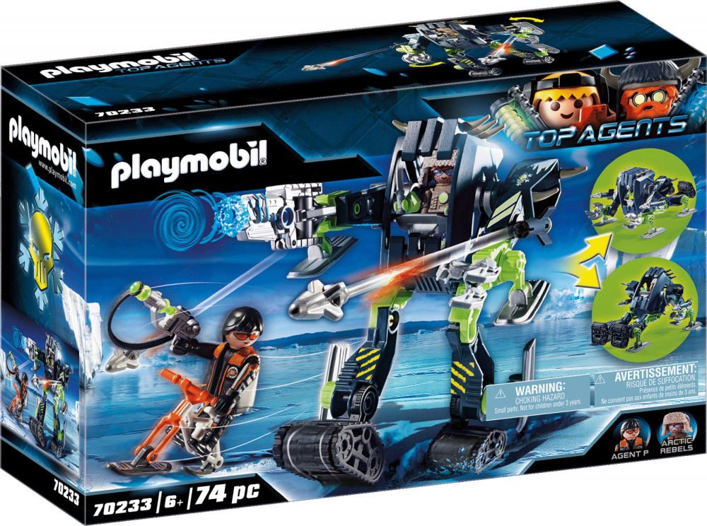 playmobil top agents 70233 arctic rebels jégrobot  kockabol
