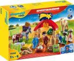Playmobil 1.2.3 70259 Adventi naptár - Betlehem