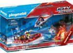 Playmobil City Action 70335 Tűzoltás helikopterrel és hajóval