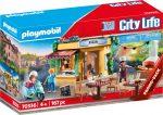 Playmobil City Life 70336 Pizzéria kerthelyiséggel