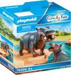 Playmobil Family Fun 70354 Viziló kicsinyével