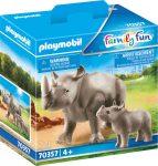 Playmobil Family Fun 70357 Orszarvú kicsinyével