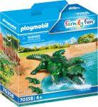 Playmobil Family Fun 70358 Alligátor kicsinyeivel