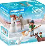 Playmobil Spirit Riding Free 70398 Havas móka Nyiszivel és Konok úrral