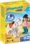 Playmobil 1.2.3 70404 Lovas lóval