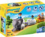 Playmobil 1.2.3 70405 Állatos vonat