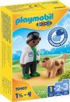 Playmobil 1.2.3 70407 Állatorvos kutyával