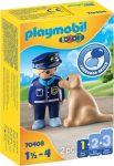 Playmobil 1.2.3 70408 Rendőr kutyával