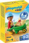 Playmobil 1.2.3 70409 Építómunkás talicskával