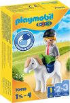 Playmobil 1.2.3 70410 Kisfiú pónival
