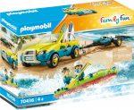 Playmobil Family Fun 70436 Strandautó utánfutóval és kenuval
