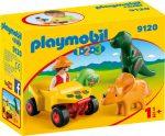 Playmobil 1.2.3 9120 Dinó kutató quaddal
