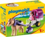 Playmobil 1.2.3 9390 Lovaskocsi