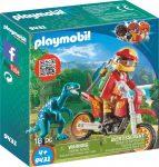 Playmobil Dinos 9431 Motocross raptorral