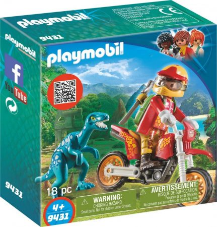 Playmobil Dinos 9431 Motocross raptorral