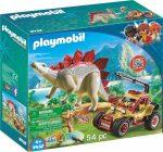Playmobil Dinos 9432 Felfedező autó Stegosaurussal