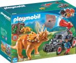 Playmobil Dinos 9434 Ellenséges homokfutó triceratopssal