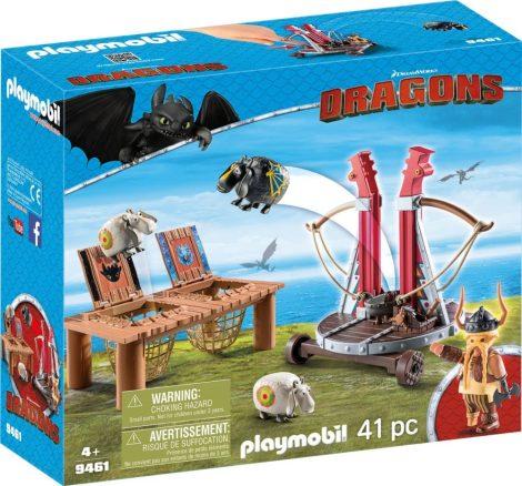 Playmobil Dragons 9461 Bélhangos báránycsúzlival