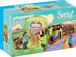 Playmobil Spirit Riding Free 9479 Pru & Chica Linda istállóval