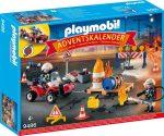 Playmobil Kiegészítők 9486 Adventi naptár - Tűzoltás az építkezésen